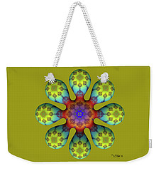 Fractal Blossom 4 Weekender Tote Bag