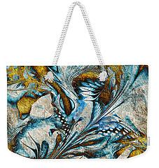 Weekender Tote Bag featuring the digital art Fractal Design by Klara Acel