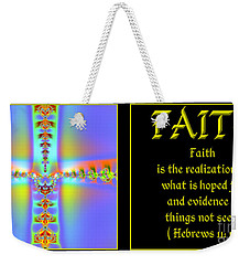 Fractal Faith Hebrews 11 Weekender Tote Bag