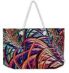 Weekender Tote Bag featuring the painting Fractal Farrago by Susan Maxwell Schmidt