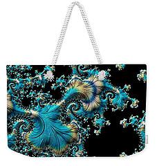 Fractal Filigree Blue Weekender Tote Bag