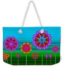 Whimsical Fractal Flower Garden Weekender Tote Bag