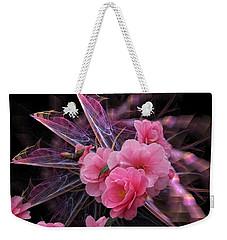 Fractal Meets Camellia  Weekender Tote Bag