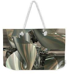 Fractal Ribbons Weekender Tote Bag by Melissa Messick