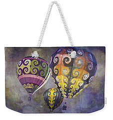 Weekender Tote Bag featuring the photograph Fractal Trio by Melinda Ledsome