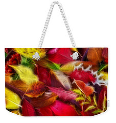 Weekender Tote Bag featuring the photograph Fractalius Leaves by Shane Bechler
