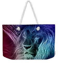 Fractalius Lion Weekender Tote Bag by Zedi