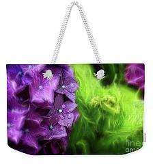 Fractals And Flowers Weekender Tote Bag by Cameron Wood
