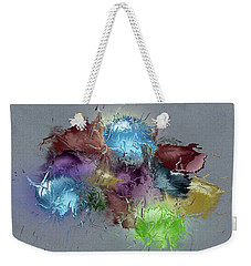 Fractured Bouqet 1 Pc Weekender Tote Bag by John Krakora