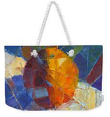 Fractured Orange Weekender Tote Bag