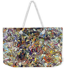 Weekender Tote Bag featuring the painting Fragmented Horse by James W Johnson