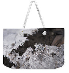 Fragmented Ice Weekender Tote Bag