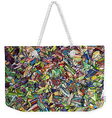 Weekender Tote Bag featuring the painting Fragmented Spring by James W Johnson