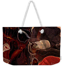 Weekender Tote Bag featuring the photograph Fragments Of Memory by Kathie Chicoine