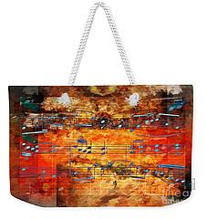 Framed Heterophony Weekender Tote Bag by Lon Chaffin