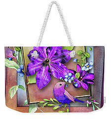 Framed Spring Weekender Tote Bag
