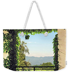 Weekender Tote Bag featuring the photograph Framing Napa Valley by Joan  Minchak