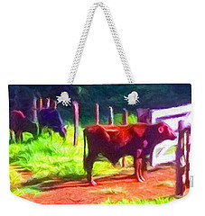Franca Cattle 2 Weekender Tote Bag