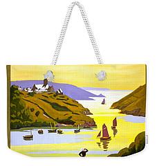 France Bretagne Vintage Travel Poster Restored Weekender Tote Bag