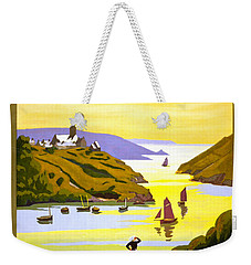 France Bretagne Vintage Travel Poster Restored Weekender Tote Bag by Carsten Reisinger