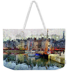Weekender Tote Bag featuring the photograph France Fishing Village by Claire Bull