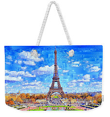 Weekender Tote Bag featuring the digital art France - Russia World Cup Champions 2018 by Rafael Salazar