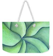 Frangipani Green Weekender Tote Bag