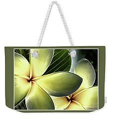 Frangipani - Plumeria Weekender Tote Bag