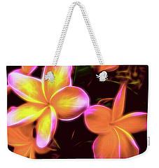 Frangipanis On The Glow Weekender Tote Bag