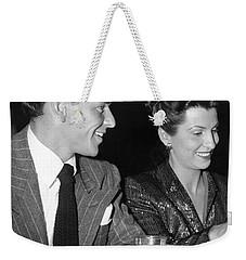 Frank Sinatra And Nancy Weekender Tote Bag by Underwood Archives