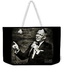 Frank Sinatra -  Weekender Tote Bag by Ian Gledhill