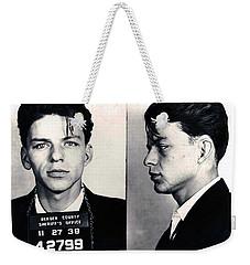 Frank Sinatra Mug Shot Horizontal Weekender Tote Bag by Tony Rubino