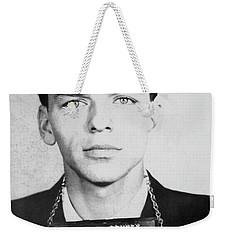Frank Sinatra Mugshot Weekender Tote Bag by Jon Neidert