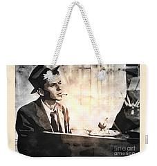 Frank Sinatra - Vintage Painting Weekender Tote Bag by Ian Gledhill