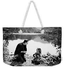 Frankenstein By The Lake With Little Girl Boris Karloff Weekender Tote Bag