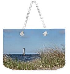 Frankfort North Breakwater Lighthouse Weekender Tote Bag by Fran Riley