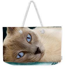 Frankie Blue Eyes Weekender Tote Bag