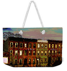 Weekender Tote Bag featuring the photograph Franklin Ave. Bk by Iowan Stone-Flowers