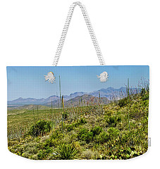 Franklin Mountains State Park Facing North Weekender Tote Bag by Allen Sheffield