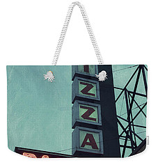 Weekender Tote Bag featuring the photograph Frank's Pizza Palace by Joel Witmeyer