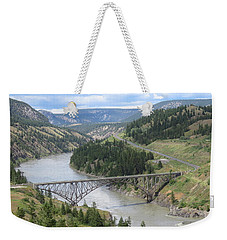 Fraser River Bridge Near Williams Lake Weekender Tote Bag