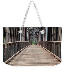 Fraser River Footbridge Weekender Tote Bag