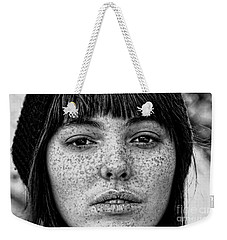 Freckle Face Closeup  Weekender Tote Bag by Jim Fitzpatrick