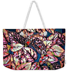 Weekender Tote Bag featuring the digital art Freckle Face by Pennie  McCracken