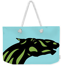 Fred - Pop Art Horse - Black, Greenery, Island Paradise Blue Weekender Tote Bag