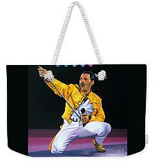 Freddie Mercury Live Weekender Tote Bag by Paul Meijering