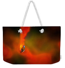 Weekender Tote Bag featuring the mixed media Freddy Fender by Trish Tritz