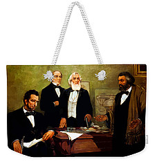Frederick Douglass Appealing To President Lincoln Weekender Tote Bag by War Is Hell Store
