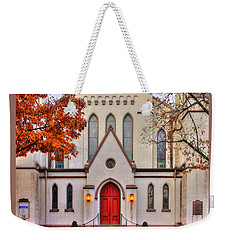 Frederick Maryland Historic District Series - Entrance To The Evangelical Lutheran Church No. 15b Weekender Tote Bag