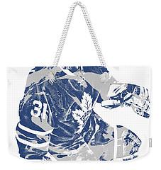 Frederik Andersen Toronto Maple Leafs Pixel Art 1 Weekender Tote Bag